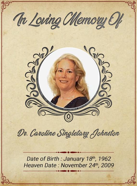 Dr. Caroline Singletary Johnston